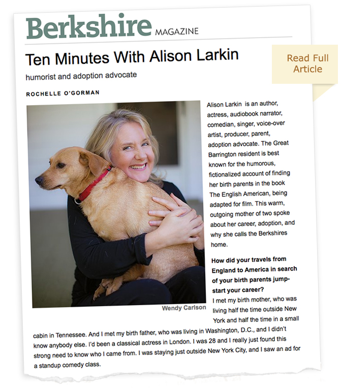 Berkshire Magazine with Alison Larkin